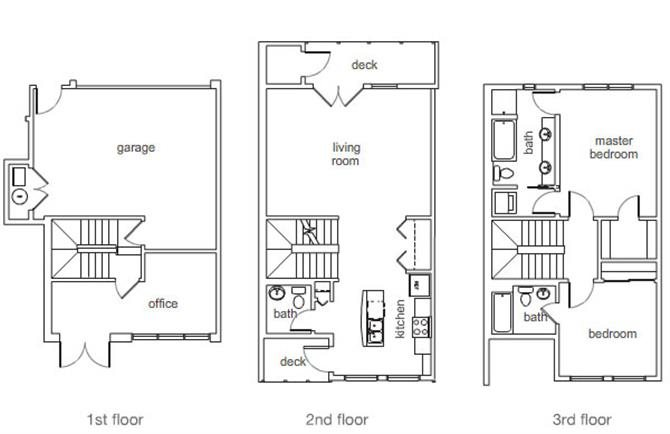 Medium 2 Bedroom 25 Bath Type 1 Floor Plan 6
